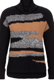 Tribal  Black turtleneck sweater - Product Mini Image