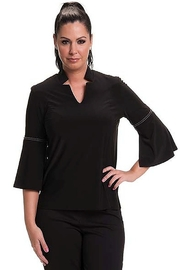 Bali Corp. Black V Neck Top Bali 7134 - Product Mini Image