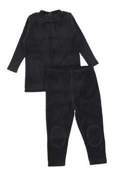 Shoptiques Product: Bee & Dee Black Velour Collection Loungewear Pajamas (2pc)