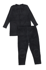 BEE AND DEE Bee & Dee Black Velour Collection Loungewear Pajamas (2pc) - Product Mini Image