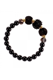 Periwinkle by Barlow BLACK VELVET BALLS AND BEADS WITH GOLD SPACERS - Product Mini Image