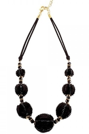 Periwinkle by Barlow BLACK VELVET BALLS WITH BEADS & GOLD TONE SPACERS - Product Mini Image