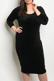 MaiTai Black Velvet Dress - Product Mini Image