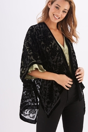 Two's Company Black Velvet Kimono - Product Mini Image
