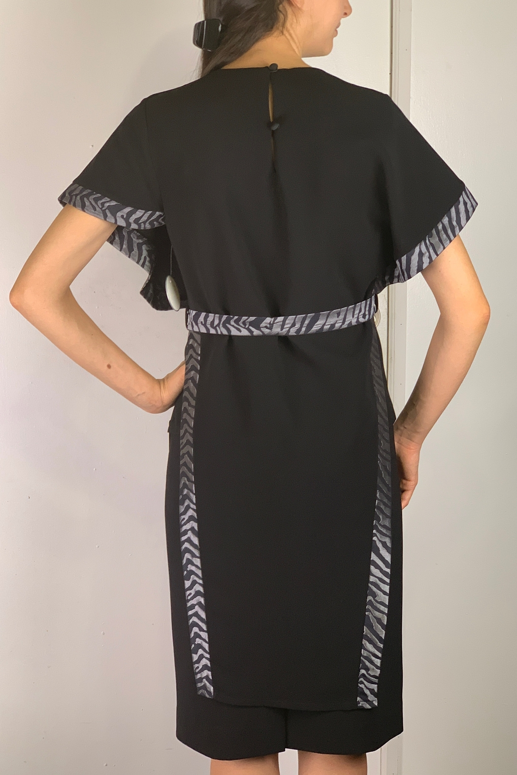 Mossaic Black Velvet Tunic Top - Front Full Image