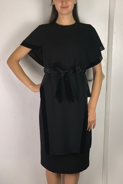 Mossaic Black Velvet Tunic Top - Alternate List Image