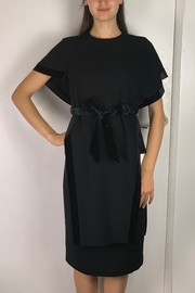 Mossaic Black Velvet Tunic Top - Front cropped