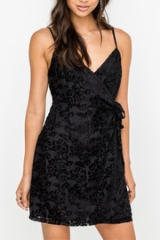 Lush Black Velvet Wrap-Dress - Product Mini Image