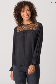 Margaret O'Leary Black Victorian Top - Product Mini Image