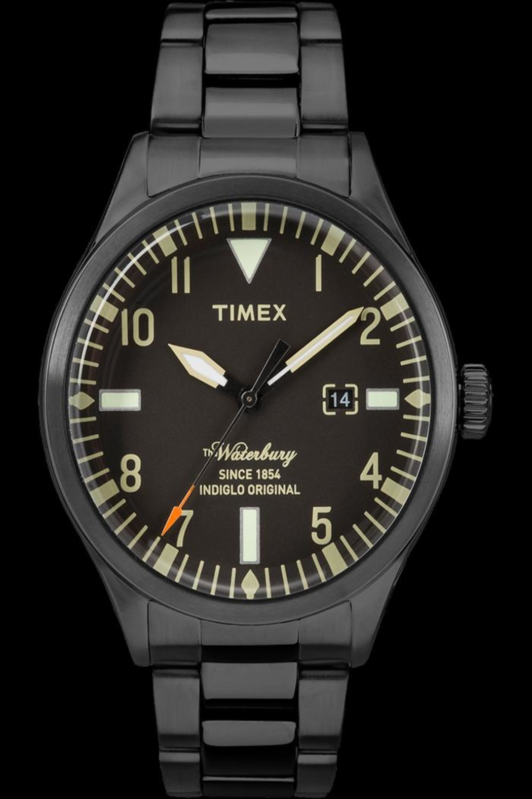 timex Black Waterbury Watch - Front Cropped Image