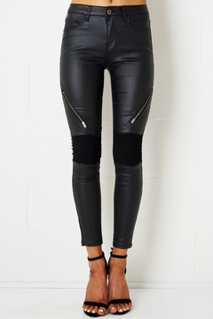 frontrow Black Wax Jeans - Product List Image