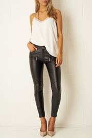 frontrow Black-Wax Zip Trousers - Other