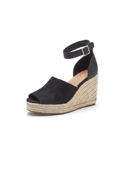Coconuts by Matisse Black Wedge Sandals - Product List Image