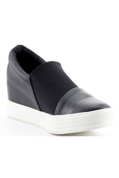 Nature Breeze Black Wedge Sneaker - Product List Image