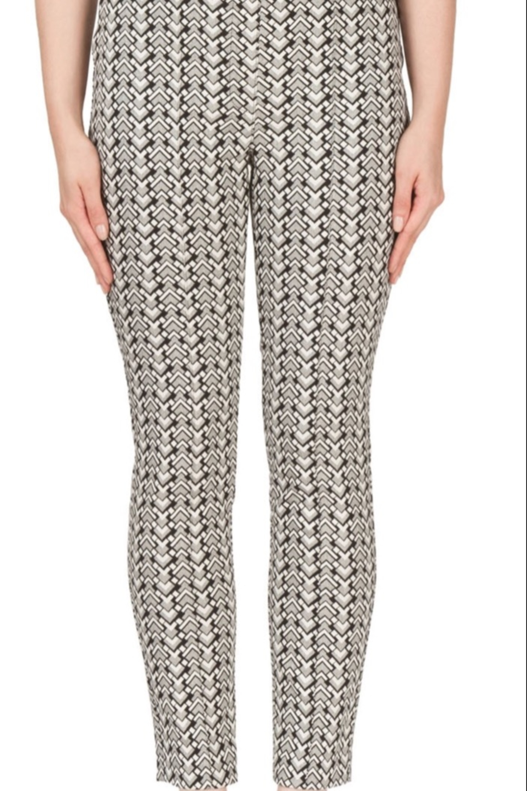 Joseph Ribkoff  Black & white ankle pants - Front Cropped Image