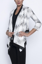 Frank Lyman Black & White Cardigan Top - Product Mini Image