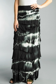 Tempo Paris Black + White Dip Dye Long Skirt - Product Mini Image