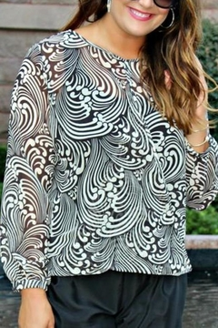 Sweet Pea Black/white Flip Top - Product List Image