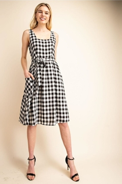 Shoptiques Product: Black/white Gingham Dress
