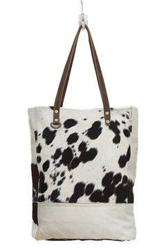 Myra Bags BLACK & WHITE IMPRESSION Cowhide HAIRON BAG - Product List Image