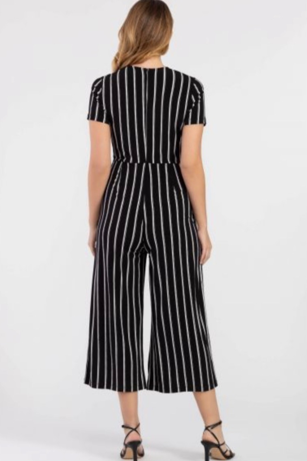 Tribal Black/white jumpsuit - Side Cropped Image