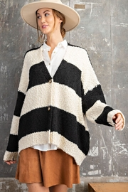 easel Black & White Opened Cardigan - Side cropped