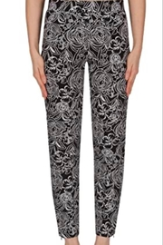 Joseph Ribkoff Black & White pattern slim pant - Product Mini Image