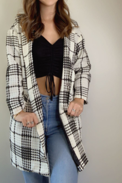 Lucy & Co. Black & White Plaid Jacket - Product List Image