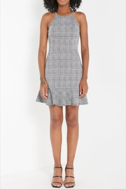 Soprano Black/white Plaid-Print Dress - Product Mini Image