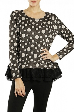 Shoptiques Product: Black & White Polka-Dot