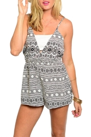 Adore Clothes & More Black White Romper - Front cropped