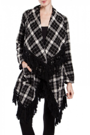 Ryu Black & White Shawl Cardigan - Product Mini Image