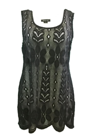 Michael Tyler Collections Black/white Sleeveless Tunic - Product Mini Image