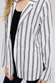 lunik Black&White Stripe Blazer - Back cropped