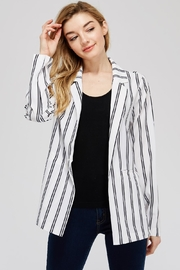 lunik Black&White Stripe Blazer - Product Mini Image