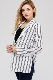 lunik Black&White Stripe Blazer - Front full body