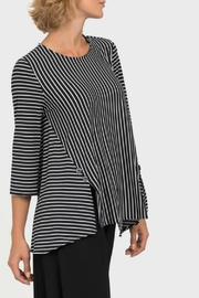 Joseph Ribkoff USA Inc. Black + White Stripe Top - Front full body