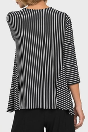 Joseph Ribkoff USA Inc. Black + White Stripe Top - Side cropped