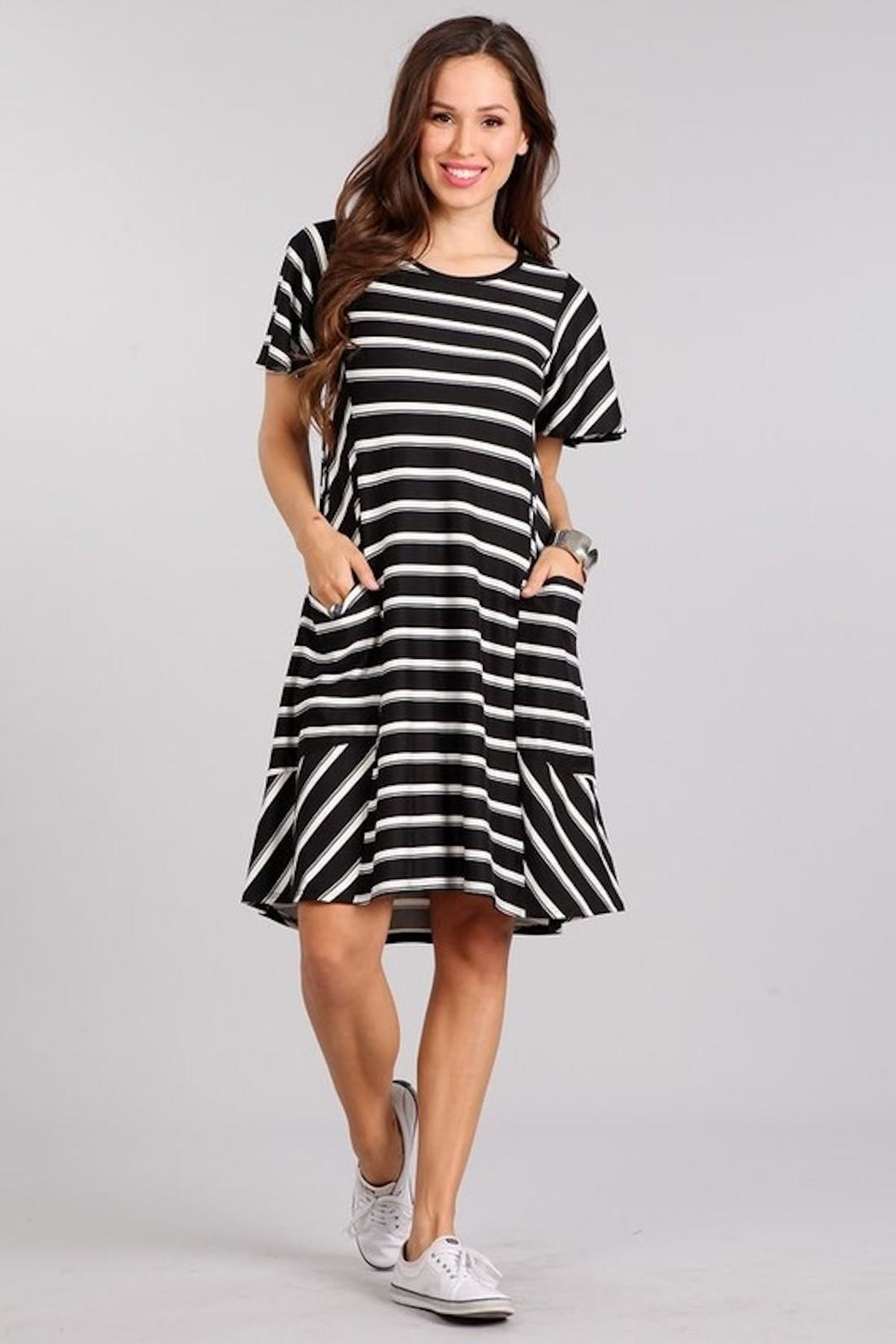 11956d8e18 Chris   Carol Black white Striped Dress from Los Angeles by AndyLiz ...