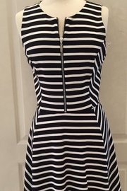 Joseph Ribkoff black/white striped zipper dress - Product Mini Image