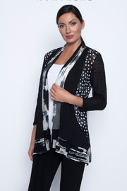 Frank Lyman Black & White  Throwover Cardigan - Front cropped