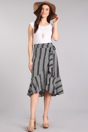 Chris & Carol Black-&-White Wrap Skirt - Product Mini Image
