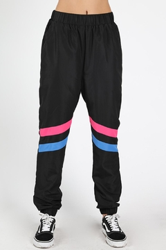 Shoptiques Product: Black Windbreaker Pants
