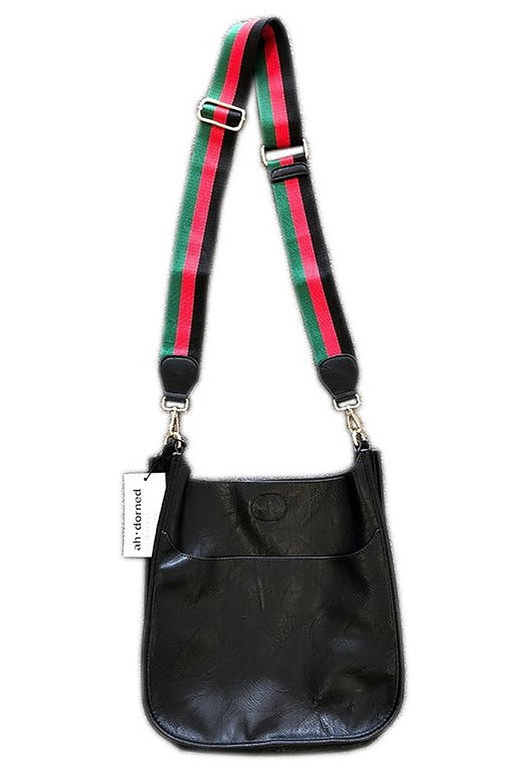Ahdorned Black Vegan With Black, Red, Green Strap - Main Image