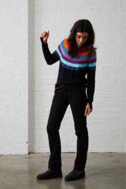 Zaket and Plover Black with Colored Stripes Sweater - Product Mini Image