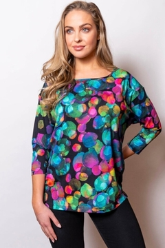 Sno Skins Black with multi color design tunic - Product List Image