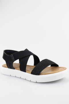 Blowfish Black Woven Strapped Sandal - Product List Image