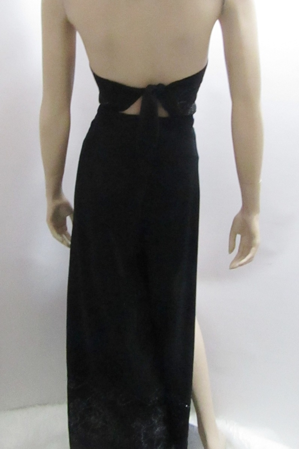 KIMBALS WRAP PANT SET in BLACK - Back Cropped Image