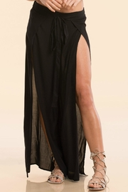 Elan Black Wrap Pants - Product Mini Image