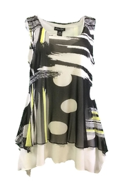 Michael Tyler Collections Black/yellow Sleeveless Tunic - Product Mini Image